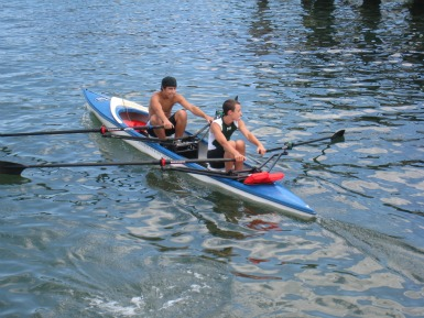 ... first teen rowing session on Mon. May 7th at Little Harbor Boathouse.